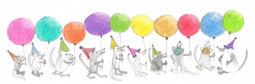 10 mice with ballons
